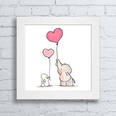 Dê mais vida ao quarto do seu filhote com os nossos quadros decorativos. <br>Quadro com moldura branca 23,5 x 23,5 cm e frente de vidro. <br>Gravura impressa com qualidade fotográfica, tamanho: 20 x 20 cm.