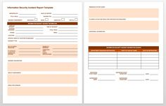 Free Incident Report Templates Forms Smartsheet Regarding Information Security Report Template - Professional Templates Ideas Progress Report Template, Report Card Template, Book Report Templates, Cv Template, Security Report, Information Report, Incident Report Form, Project Status Report, Injury Report