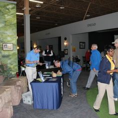 Teddy Newton gets folks registered for the first ever GAM Golf Days Kickoff Party at On the Dunes. Fun & competitive golf events at premiere private courses starting at $60. Www.gam.org