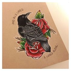 A frequent indication of great luck, the crow is also related to the trickster archetype, to take note of exactly how deceiving appearances can be. The crow itself is a rather… Continue Reading → Tattoo Drawings, Body Art Tattoos, New Tattoos, Cool Tattoos, Tattoo Art, Crow Tattoo Design, Tattoo Designs, Traditional Tattoo Design, Traditional Tattoos