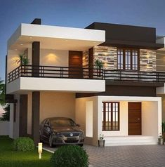 House Outside Design, House Gate Design, Village House Design, House Front Design, Small House Design, Best Modern House Design, Modern Exterior House Designs, Contemporary House Plans, Dream House Exterior