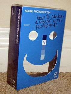 """How to make a """"mask"""" with Photoshop. Graphic Design Humor."""