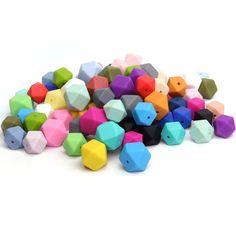 10pcs Home Nursing Necklace Teething Beads Silicone Bracelet Baby Teether  DIY Z