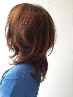 ウルフボブ☆ Messy Short Hair, Medium Short Hair, Long Hair Cuts, Medium Hair Styles, Short Hair Styles, Long Bob Haircuts, Layered Haircuts, Hair Heaven, Asian Hair