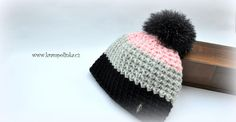 Kulíšek véčkový Tulip Big · Návody háčkování Krampolinka Free Crochet, Crochet Hats, Tweed, Crochet Patterns, Winter Hats, Beanie, Big, Crocheting, Tulip
