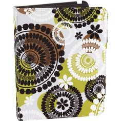 Vera Bradley Tablet Folio in Cocoa Moss ($26) ❤ liked on Polyvore featuring accessories, tech accessories, cocoa moss, online clearance, sale and vera bradley