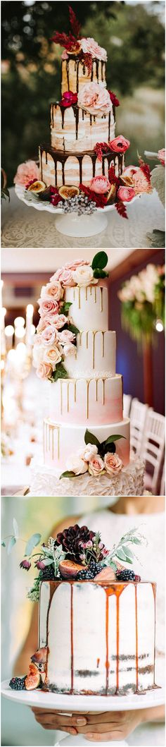 2017 trending wedding cake ideas with drizzles