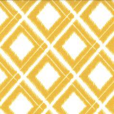Ikat Diamonds White Mustard ~ Simply Color