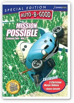 Auto-B-Good: Mission Possible Special Edition // God can make the impossible possible! Join the Auto-B-Good cars as they climb higher, gain wisdom and discover the power of imagination. Children will learn Bible-centered values told with exciting characters and award-winning animation that they will love. This DVD features 3 music videos, plus a full-length bonus episode.