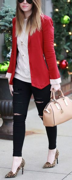 25 Outfits con blazers rojos http://beautyandfashionideas.com/25-outfits-con-blazers-rojos/ 25 Outfits with red blazers #25Outfitsconblazersrojos #blazers #blazersrojos #Fashion #Moda #Outfits #outfitsdemoda #Tipsdemoda