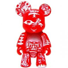 Qee Paper Cut Bear #red #qee