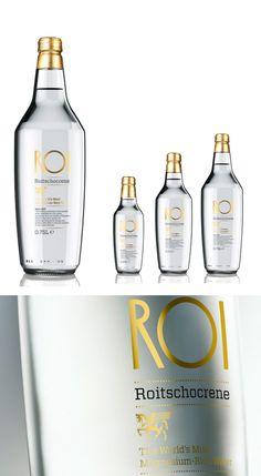 ROI magnesium rich bottled water from Slovenia.
