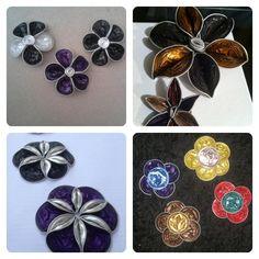 flores hechas con cápsulas nespresso
