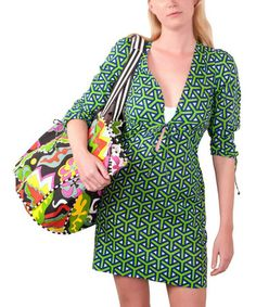 Look what I found on #zulily! Why O Why Green Tie-Front Cover-Up #zulilyfinds