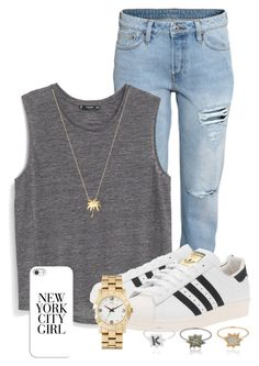 """""""Plain Grey Tank"""" by nina4ever14 ❤ liked on Polyvore featuring H&M, MANGO, adidas Originals, Joolz by Martha Calvo, Marc by Marc Jacobs, Kenzo and Casetify"""