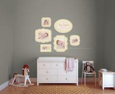 baby nursury photo wall display organic bloom frames
