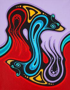 artists algonquin ca mark kulas Inuit Kunst, Inuit Art, Native American Artwork, American Indian Art, Deer Skull Art, Kunst Portfolio, Kunst Der Aborigines, Pop Art, Woodland Art