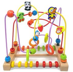 Onshine Large Animal Fruit First Circle Bead Maze Roller Coaster Educational Toys for Kids ** More info could be found at the image url.Note:It is affiliate link to Amazon.