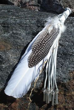 White Smudge Feather - MF30