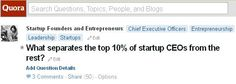 What separates the top 10% of startup CEOs from the rest?  Edit
