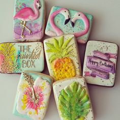 Tropical Cookies // The Painted Box Cookies