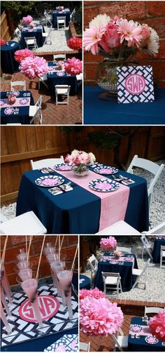 love navy and pink color combo!
