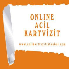 Online acil kartvizit sistemimiz ile kartlarınıza 3 saat içerisinde sahip olabilirsiniz http://www.acilkartvizitistanbul.com