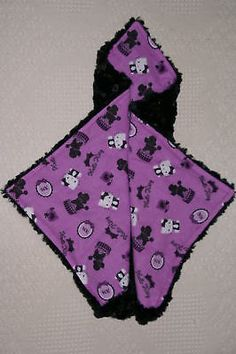 HELLO KITTY POODLE LOVIE BY WILLOW BLU COUTURE MINI SECURITY BABY BLANKETS 18""
