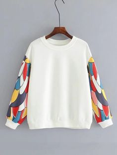 SheIn offers Patchwork Sleeve Insert Sweatshirt & more to fit your fashionable needs. Cute Casual Outfits, Short Outfits, Girl Outfits, Girls Fashion Clothes, Girl Fashion, Fashion Outfits, Basic Hoodie, Western Outfits, Custom Clothes