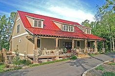 Country Style House Plan - 5 Beds 3 Baths 2704 Sq/Ft Plan #17-2512 Exterior - Front Elevation - Houseplans.com