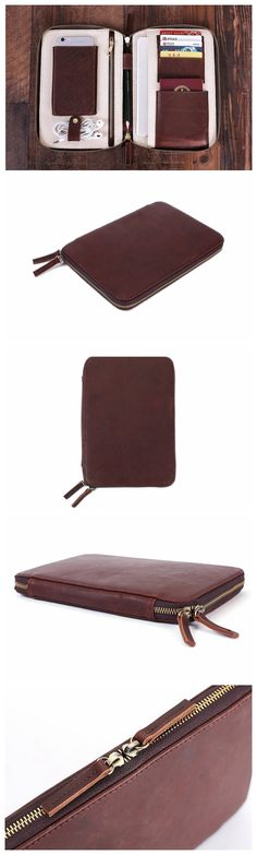 Handmade Custom Leather Travel Wallet, Passport Holder, iPad Organiser B17