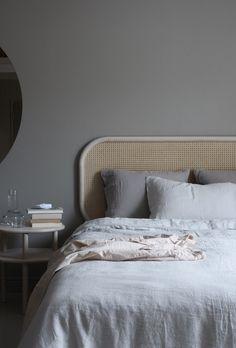 A bedroom with neutral shades by Susanna Vento via Krone Kern