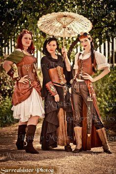 Leather Mystics - Steampunk street leather fetish SCA renaissance pirate costumes!