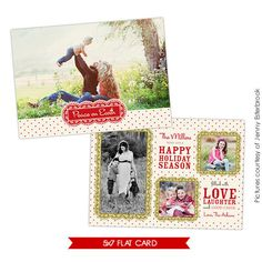 PSD Christmas Card Photoshop template  Love together  by birdesign, $8.00