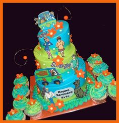 Saw this cake and it rocks! My mom LOVES Scooby-Doo and her name is Erin! Scooby Doo Birthday Cake, Scooby Doo Cake, Birthday Cakes, Pretty Cakes, Cute Cakes, Scooby Doo Tv Show, 6th Birthday Parties, Birthday Ideas, 4th Birthday