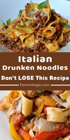 Sausage Recipes, Casserole Recipes, Cooking Recipes, Healthy Pasta Recipes, Beef Dishes, Food Dishes, Italian Drunken Noodles, Recipe Pasta, Al Dente