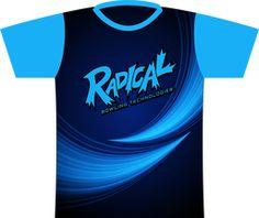 Radical Light Blue Streak Dye Sublimated Jersey. Created using Style 0043!  Radical logo left chest and full back.