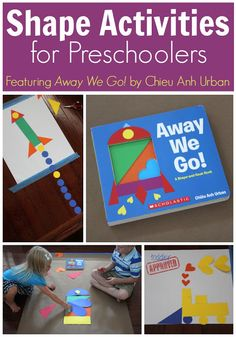 Shape Activities for Preschoolers {featuring Away We Go! by Chieu Anh Urban} Toddler Approved! Toddler Learning, Preschool Learning, Toddler Preschool, Early Learning, In Kindergarten, Fun Learning, Toddler Activities, Learning Activities, Preschool Activities