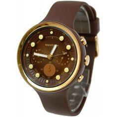 Reloj Appetime Pips Sweets Choco Banana SVJ540002 con caja y pulsera de policarbonato color marrón. #relojes #watches