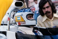 Carlos Reutemann, Gordon Murray, Brabham-Ford BT42, Grand Prix of Monaco, Circuit de Monaco, 03 June 1973. Carlos Reutemann with Gordon Murray.