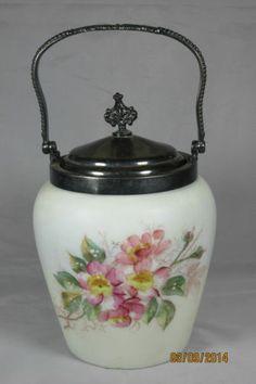 A J Hall Meriden Ct Cracker Jar Victorian Silverplated Warecrest Style Vanbergh | eBay
