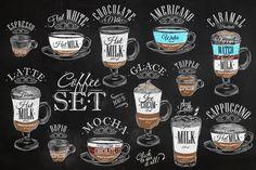 Set Coffee - Illustrations