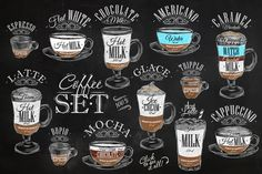 Set Coffee - Illustrations