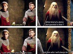 Merlin and Arthur Merthur Old Merlin, Merlin Serie, Merlin Show, Merlin Fandom, Merlin Memes, Merlin Funny, Merlin And Arthur, King Arthur, Prince Arthur