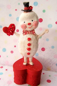 A Snowman Came a Courtin' by thepolkadotpixie, via Flickr