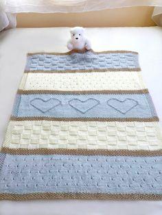 Baby Blanket Pattern Knit Baby Blanket Pattern Heart Baby | Etsy