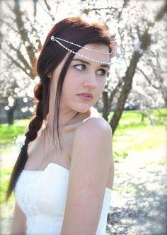 Rhinestone Bridal Hair Chains Draping Crystal by GracefullyGirly