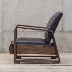 Industrial and masculine chair swag.