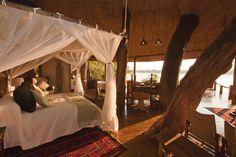 Zambia luxury safari holidays   Tongabezi Lodge #bedroom #treehouse