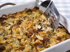 Jauheliha-juustolaatikko Finland Food, Lasagna, Cauliflower, Macaroni And Cheese, Food And Drink, Cooking Recipes, Yummy Food, Homemade, Meat
